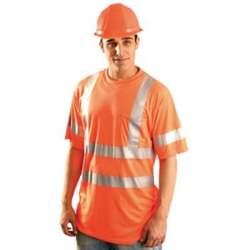 High Visibility T-Shirt with Dual Stripes-Class 3