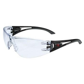 Radians Optima - Clear Anti-Fog Lens Safety Glasses Frameless Style Black Color - 12 Pairs / Box
