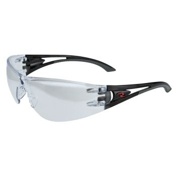 Radians Optima - Silver Mirror Lens Safety Glasses Frameless Style Black Color - 12 Pairs / Box