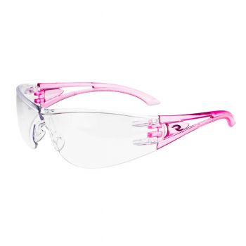 Radians Optima - Clear - PINK TEMPLES Safety Glasses Frameless Style Pink Color - 1 Pairs / Box