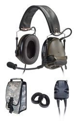 Peltor ComTac III ARC Headset Kit, Dual Comm, Accessory Rail Connector - OLIVE DRAB GREEN