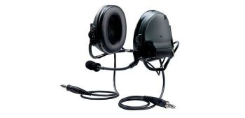 Peltor Swat-Tac III ACH Communication Headset, Dual Comm, Neck Band - BLACK