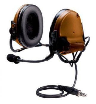 Peltor ComTac III ACH Communication Headset, Single Comm, Neck Band -  COYOTE BROWN