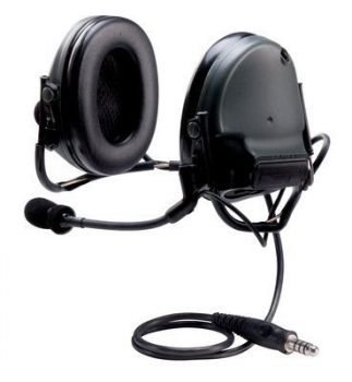 Peltor Swat-Tac III ACH Communication Headset, Single Comm, Neck Band -  BLACK