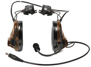 Peltor ComTac III ARC Headset, Single Comm, Accessory Rail Connector - COYOTE BROWN