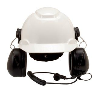 Peltor MT Series 2-Way Communications Headset, Hard Hat Attachment, Direct Wired Head for Motorola HT750/HT1250