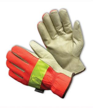 PIP Top Grain Leather Palm Hi-Vis Nylon