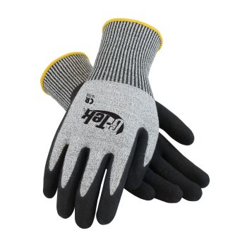 G Tek CR Seamless Knit HPPE / Glass Glove  Nitrile Coated Micro Surface Grip