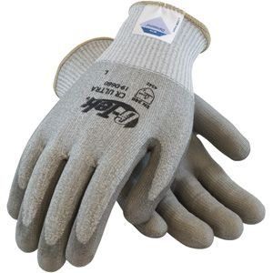 G-Tek CR Ultra Seamless Knit Dyneema® / Lycra Glove with Polyurethane Coated Smooth Grip on Palm & Fingers