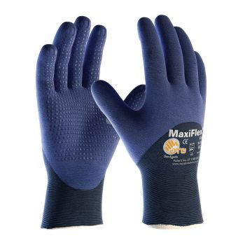 PIP Small MaxiFlex Elite by ATG Ultra Light Weight Blue Micro-Foam Nitrile 3/4 Dipped Palm, work glove