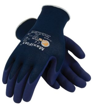 PIP 34-274/M ATG Ultra Light Weight Seamless Knit Nylon Glove with Nitrile Coated MicroFoam Grip on Palm & Fingers Medium 12 DZ