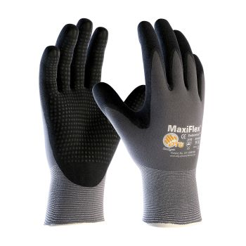 PIP ATG 34-844 MaxiFlex Endurance Gloves - Dotted Palms - Nitrile Micro-Foam - Gray Color (1 PR)