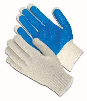 Seamless Knit with PVC Palm Coating Glove - 10 Gauge