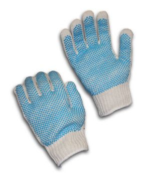 Seamless Knit Double-Sided PVC Dense Grip - 7 Gauge (LARGE)