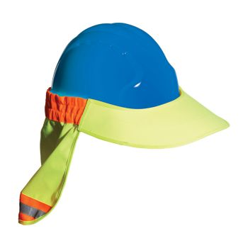 Hi-Viz Hard Hat Visor with Neck Shade by PIP