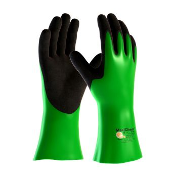 """PIP 56-635/M ATG Nitrile Blend Coated Glove with Nylon / Lycra Liner and Non Slip Grip on Palm & Fingers 14"""" Medium 6 DZ"""