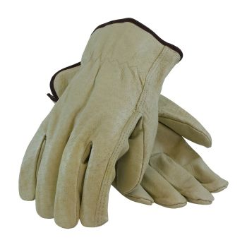 PIP 70-301  Economy Grade Top Grain Leather Driver's Glove - Straight Thumb 120 Pairs
