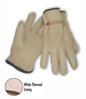 Regular Grade Top Grain Leather White Th