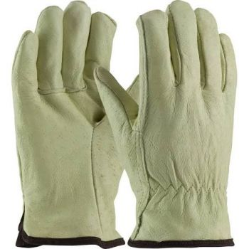 Premium Grade Top Grain Leather White Thermal Lined Glove - Straight Thumb