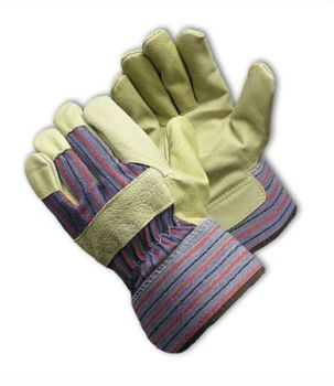 PIP Economy Grade Top Grain Leather Palm Glove - Safety Cuff (LARGE)
