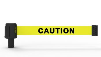 "Banner Stakes PL4026 PLUS Yellow ""Caution"" Banner"