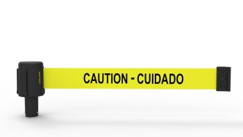"Banner Stakes PL4028 PLUS Yellow ""Caution-Cuidado"" Banner"