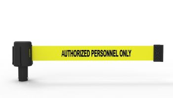 "Banner Stakes PL4032 PLUS Yellow ""Authorized Personnel Only"" Banner"