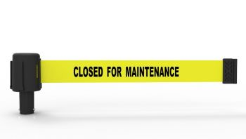 "Banner Stakes PL4039 PLUS Yellow ""Closed for Maintenance"" Banner (Pack of 5)"