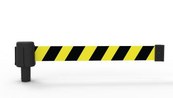 Banner Stakes PL4041 PLUS Yellow/Black Diag Stripe Banner (Pack of 5)