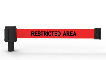 "Banner Stakes PL4047 PLUS Red ""Restricted Area"" Banner (Pack of 5)"