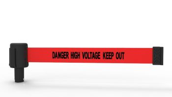 """Banner Stakes PL4053 PLUS Red """"Danger High Voltage Keep Out"""" Banner (Pack of 5)"""