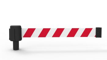 Banner Stakes PL4055 PLUS Red/White Diagonal Stripe Banner (Pack of 5)