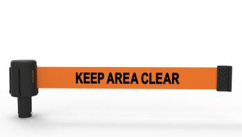 """Banner Stakes PL4059 PLUS Orange """"Keep Area Clear"""" Banner (Pack of 5)"""