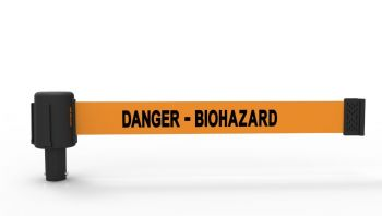 "Banner Stakes PL4060 PLUS Orange ""Danger - Biohazard"" Banner"