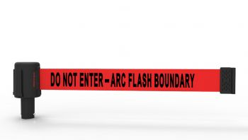 Banner Stakes PL4077 PLUS Red Do Not Enter ARC Flash Boundary (pack of 5)