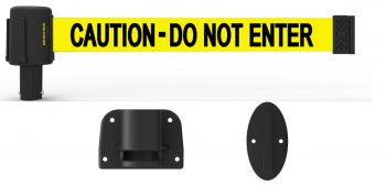 "Banner Stakes PL4108 PLUS Wall Mount System, Yellow ""Caution-Do Not Enter"""