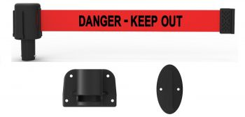 "Banner Stakes PL4114 PLUS Wall Mount System, Red ""Danger - Keep Out"""