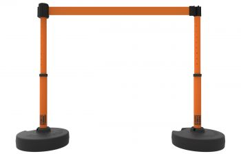 Banner Stakes PL4203 PLUS Barrier Set X2, Blank Orange Banner