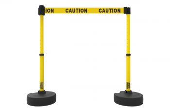 "Banner Stakes PL4282 PLUS Barrier Set X2, Yellow ""Caution"""