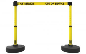 "Banner Stakes PL4289 PLUS Barrier Set X2, Yellow ""Out of Service"""