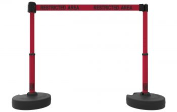 "Banner Stakes PL4293 PLUS Barrier Set X2, Red ""Restricted Area"""