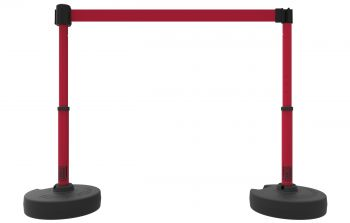 Banner Stakes PL4299 PLUS Barrier Set X2, Blank Red Banner