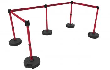 """Banner Stakes PL4594 PLUS Barrier Set X5, Red """"Danger-Keep Out"""""""