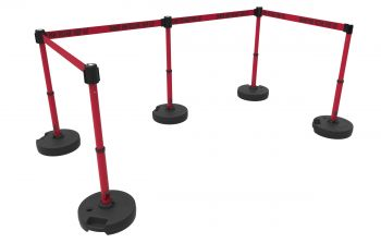"""Banner Stakes PL4596 PLUS Barrier Set X5, Red """"Danger High Voltage Keep Out"""""""