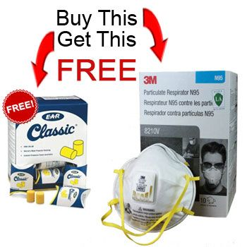 Buy 4 Boxes of 3M N95 Respirators Get FREE EAR Classic - EarPlugs