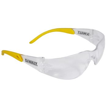 DEWALT DC- Smoke Lens Safety Glasses Half Frame Style Black Color - 12 Pairs / Box