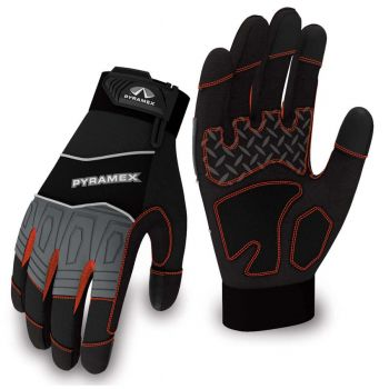 Pyramex Gloves GL102 Series Synthetic Material Black Color - 1 Pair