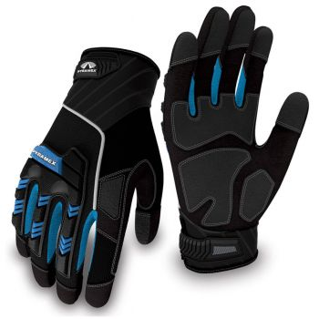 Pyramex Gloves GL201 Series Synthetic Material Black Color  - 1 Pair