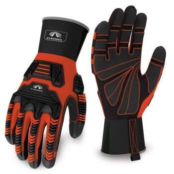Pyramex Gloves GL801 Series Synthetic Material Orange Color - 1 Pair