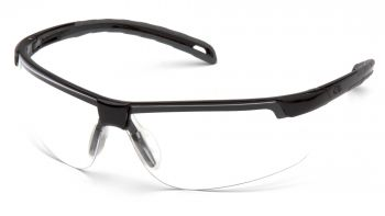Ever-Lite Safety Glasses - Clear Lens with Black Frame (Box of 12)